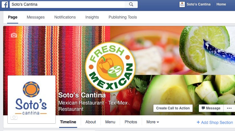 Soto's Cantina Facebook Page